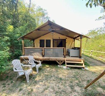 Photo Tentes Safari au camping Mas de Champel****